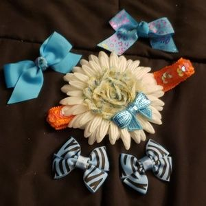 Blue hair bundle